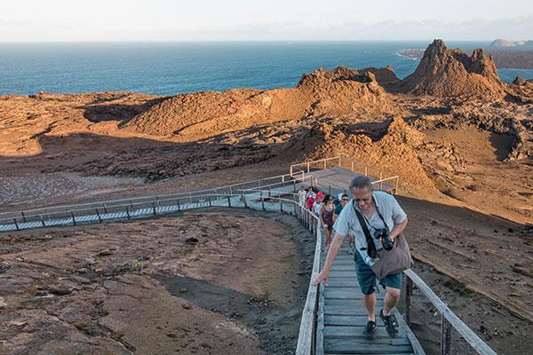 galapagos hike in Bartholomew island