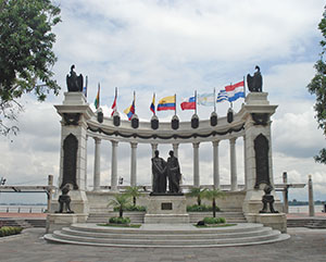 Monument of Bolivar and San Martin in Guayaquil